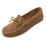 Minnetonka Classic Moccasin for Men in Taupe 9.5