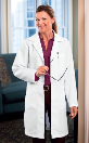 "WMA Embroidered 37"" Women's Labcoat by META"