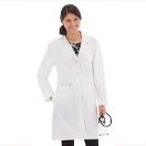 "META 33"" Pro Roll-Up Sleeve Tri-Blend Stretch Lab Coat for Women"