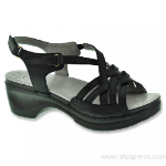 Sanita Drina Sandal for Women in Black 38