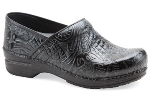 Dansko Pro XP Clog for Women in Black Floral Tooled