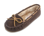 Minnetonka Cally Slipper for Women in Chocolate 9