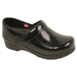 Sanita Professional Clog for Women in Patent Leather for Women Black & Red