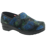 Sanita Velvet Flower Vegan Clog For Women