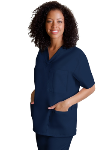 WMA Unisex Embroidered 3 Pocket Scrub Top-Navy