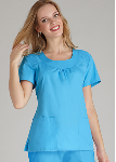 Adar Scoop Neck Smocked Top for Women