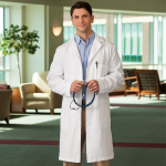 "META 40"" Cotton Lab Coat for Men"