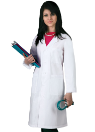 "NYUWMA Embroidered 39"" Unisex Labcoat"