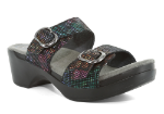 Dansko Sophie Sandal For Women in Black Stained Glass 38