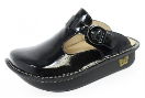 Alegria Classic Black Patent Clog for Women
