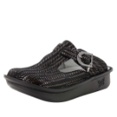 Alegria Classic Chained Black Clog for Women