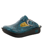 Alegria Classic Teal Tooled Clog for Women