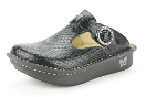 Alegria Classic Black Burnish Snake Clog for Women