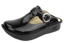 Alegria Classic Black Waxy Clog for Women