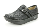 Alegria Alli Black Embossed Paisley Shoe for Women 36