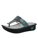 Alegria Carina Sandal in Aqua Flora for Women
