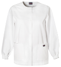 NYUWinthrop Cherokee Warm-Up Snap Front Jacket 4350 White