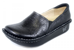Alegria Debra Black Embossed Rose Shoe for Women