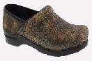 Sanita Professional Brown Snakeskin Print Clog For Women