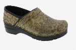 Sanita Professional Gold Cheetah Print Clog For Women