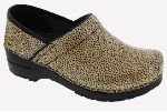Sanita Professional Mini Leopard Print Clog For Women