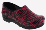 Sanita Professional Pink Tiger Stripe Print Clog For Women
