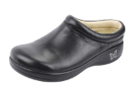 Alegria Kayla Clog in Black Nappa for Women