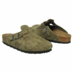 Birkenstock Boston Clog for Kids in Olive 31N-32N