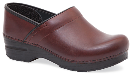 Dansko Professional Clog for Women in Wine Full Grain Leather