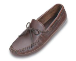 Minnetonka Double Bottom Hardsole Shoe for Men in Dark Brown Lariat