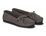 Minnetonka Kilty Suede Hardsole Moccasins for Women