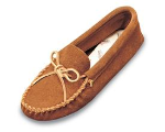 Minnetonka Leather Laced Softsole Moccasin for Men