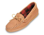 Minnetonka Genuine Moosehide Moccasin with Fleece for Men