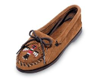 Minnetonka Thunderbird Boat Sole Moccasin for Women in Suede