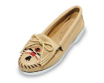 Minnetonka Thunderbird Boat Sole Moccasin for Women in Smooth Leathers