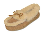Minnetonka Ultimate Sheepskin Slipper in Golden Tan for Women 9