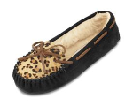 Minnetonka Leopard Cally Slipper for Women