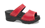 Dansko Minnie Leather Sandal for Kids in Cherry 29