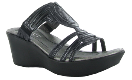 Naot Enchant Sandal for Women in Black Raven 35