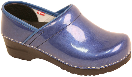 Sanita Professional Pearl Clog for Women in Blue Patent Leather