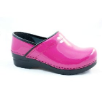 Sanita Professional Clog in Fuschia Patent Leather for Women