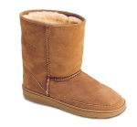 Minnetonka Children's Sheepskin Boot in Tan 1