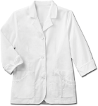 "META 29"" 3/4 Sleeve Stretch Lab Coat for Women"