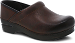 Dansko Professional Clog for Women in Brown Burnished Nubuck