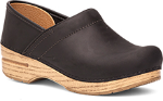 Dansko Professional Clog for Women in Black/Natural Oiled Leather