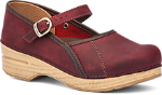Dansko Marcelle Clog for Women in Red Oiled Leather
