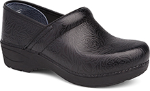 Dansko Pro XP 2.0 Clog for Women in Black Floral Tooled