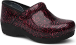 Dansko Pro XP 2.0 Clog for Women in Wine Tooled Patent