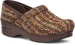 Dansko Fabric Professional Brown Textured Clog for Women