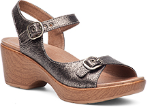 Dansko Joanie Sandal For Women in Pewter 38